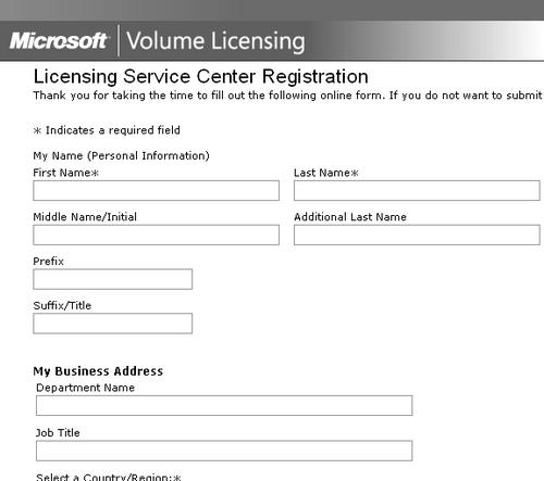 Microsoft Volume Licensing